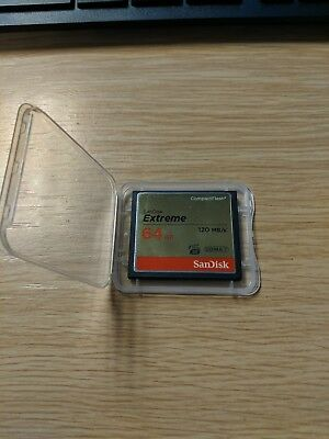 64GB SanDisk Extreme Compact Flash Card 120MB/S read & 85MB write