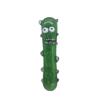 Funny Cucumber Pickle Rick Glass Pipe Glass Bong Smoking Pipe Glass Bowl Hookah