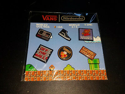 NEW Limited Edition Set of 6 Vans x Nintendo Pins