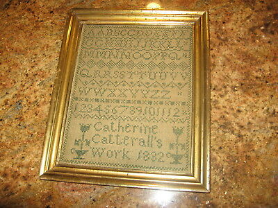 Early 19th Century Sampler by Catherine Catterall dated 1832