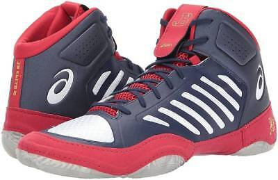 timeless design 667dc 9804e Asics JB Elite III Wrestling Shoe Blue White Red (J702N) Size 9.5