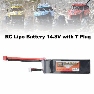 ZOP Power 14.8V 4500mAh 45C 4S 1P Lipo Battery T Plug for RC Drone Boat CY