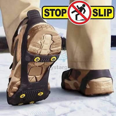 All Sizes Snow Anti Slip Ice Grippers for Boots Shoes Grips Spikes Crampons PMS