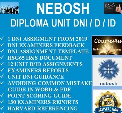 NEBOSH DIPLOMA UNIT DNI Assignment 12 Examples + Reports + MORE *DOWNLOAD*