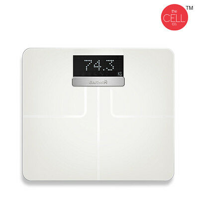 Garmin Index Smart Scale White With Connected Features Wi-Fi BMI Body Fat & Mass