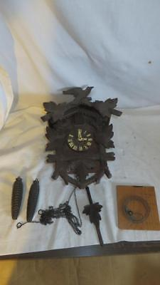 Vintage German Black Forest Hubert Herr Cuckoo Clock for restoration