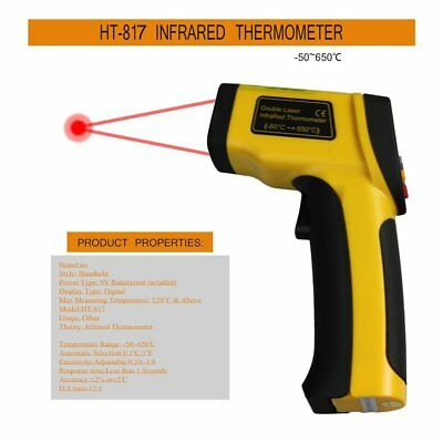 Dual Laser LCD Display IR Infrared Thermometer -50 To 650 Degree Celsius PT