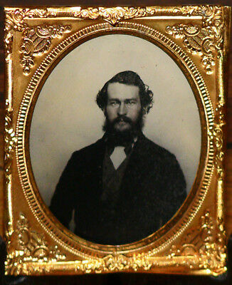 AMBROTYPE portrait d'un homme - IMPECCABLE -