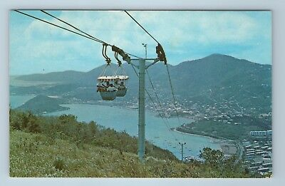 Vintage Postcard Charlotte Amalie Aerial Tramway St. Thomas Virgin Islands