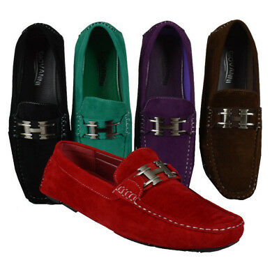 af62c0f9cec MEN GIOVANNI DRESS Loafer Italian Casual Slip-On Solid Suede Fashion M9513