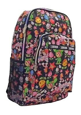 f28d4481b12 LADIES GIRL BOY Funky Retro Cartoon Colourful Backpack Rucksack ...