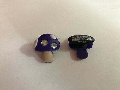 Purple Bling Mushroom Shoe-Doodle Rubber Shoes or Crocs Shoe Charm PSC1117