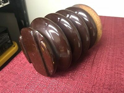 large brown electric insulator from radio station LAPP  LADD