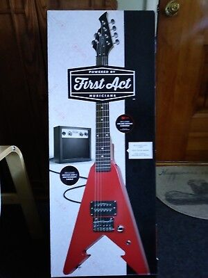 First Act Arrow Flying V Red Electric Guitar With Amp N I B Local Pickup Only