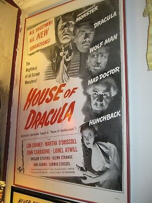 House of Dracula-Military issue one sheet-Universal Horror