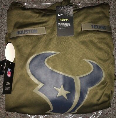 HOUSTON TEXANS Salute to Service Therma Fit Hoodie 2018 Nike Military STS 41ee33b97