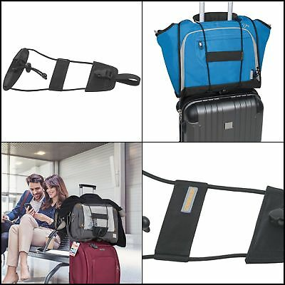 Travelon Bag Bungee, Black, One Size Secures a 2nd bag two items to move as one.