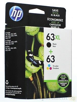 HP 63/63XL Ink Cartridges Combo-pack, 2 Pack