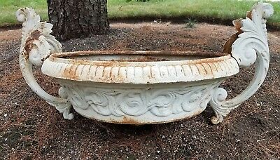 Old Victorian Cast Iron Garden Urn, without base, Heavy.