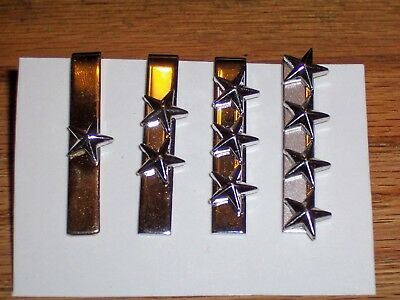 #1 - 4 USAF General Officer Military Tie Clips                        USAF patch