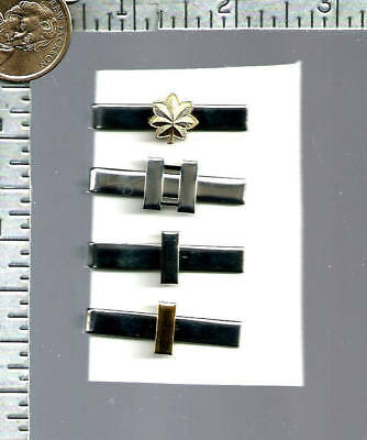 #2 - 4 USAF Officers Military Tie Clips                               USAF patch