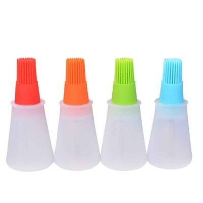 Self-contained oil bottle high temperature resistant lint-free kitchen bruR0