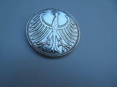 1951 J  Germany  5 mark German Coin