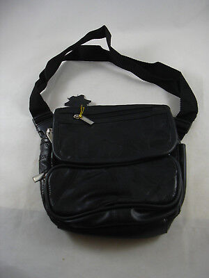 d61171273b99 Capezio Black Patchwork Leather Fanny Pack Bum Bag NEW Adjustable Waist  Strap