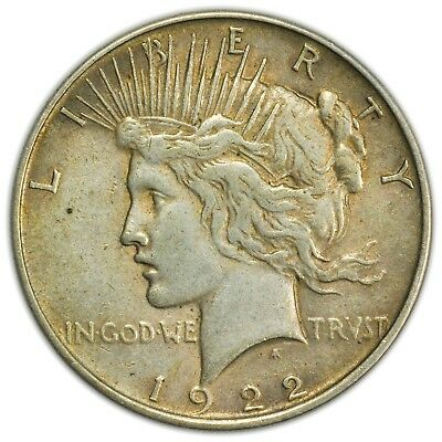 1922 Peace Dollar, Large, Circulated, Silver Coin [4009.01]