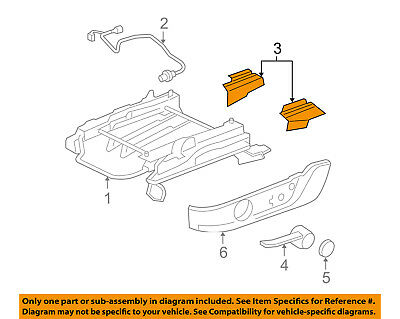 FORD OEM 05-09 Mustang Seat Track-Track Cover Left 5R3Z6361748DAB