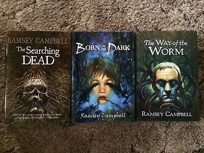 THE SEARCHING DEAD + BORN TO THE DARK + WAY OF THE WORM Ramsey Campbell TRILOGY