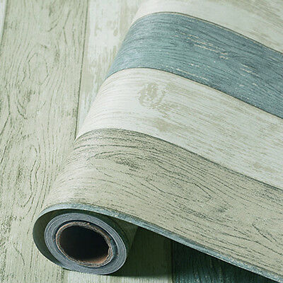 Vintage Blue Wood Wallpaper Roll Vinyl Self Adhesive Contact Paper Bedroom 118""