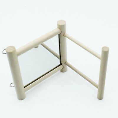 Bird Station Racks With Mirror Toys Training Support Birdcage StanR3
