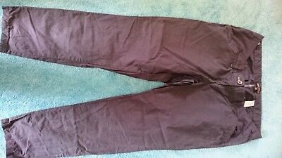 NEXT maternity 14 navy cotton chinos with adjustable waist EUC
