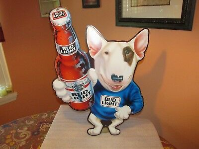 bud light beer spuds mackenzie sign 27 tin vintage 1989 awesome