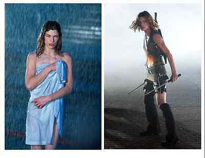 Resident Evil 2002 Movie 4-Photos Lot Milla Jovovich Glossy Sci-Fi Horror New!