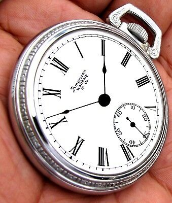 Antique 18 Size Lever Set Pocket Watch Waltham W.m. Ellery 1889