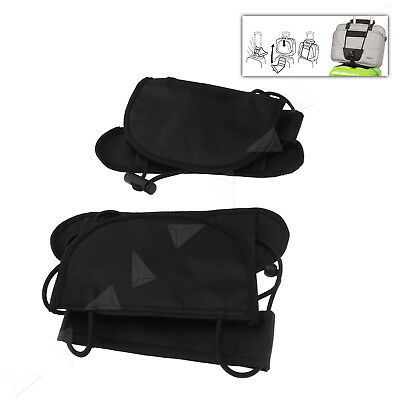 2x Adjustable Add A Bag Strap Travel Luggage Suitcase Belt Carry On Bungee Easy