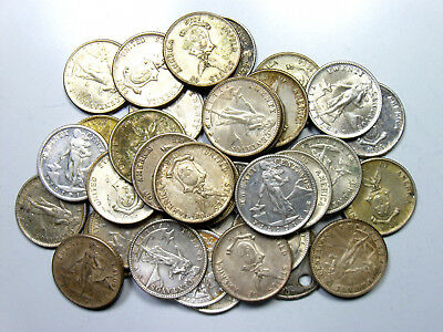 Lot of (35) Philippines Silver 20 Centavos - 1944-1945
