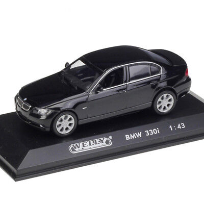 BMW 330i 1:43 Scale Car Model Diecast Toy Vehicle Black Gift Collection Kids Toy