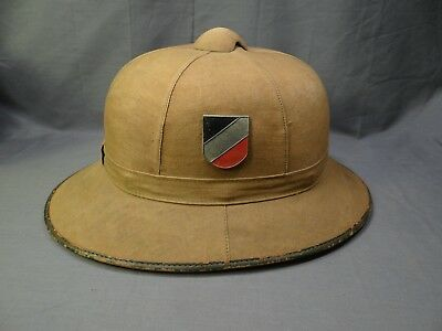 ORIGINAL WWII 1942 GERMAN TROPICAL PITH HELMET ( for AFRICA CORP)