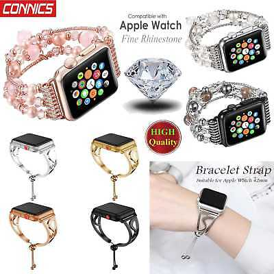 For Apple Watch Series 3 2 1 38 42 MM Stainless Steel Bracelet iWatch Band Strap