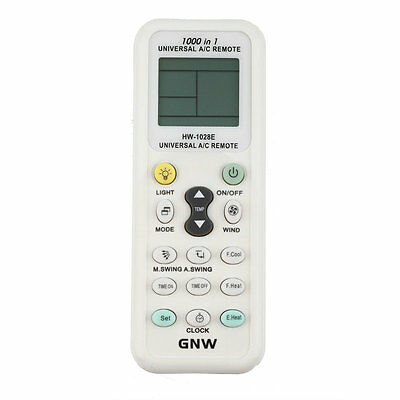 UNIVERSAL AIR CON CONDITIONER A/C REMOTE CONTROL - 1000 /1 - Suits most brand PT