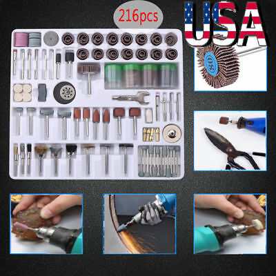 For Dremel Rotary Tool Accessories Kit Grinding Polishing Shank Craft Bits