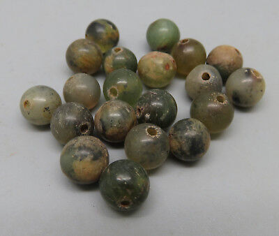 Lot of 20pc Antique Jade Beads