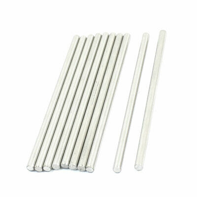 10 Pcs Replacement Stainless Steel Round Rods Bars 3mmx70mm for RC Toy Car