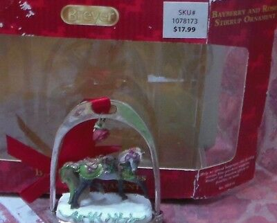 Breyer Stirrup Christmas Ornament 2014 Bayberry and Roses Holiday Horse EUC