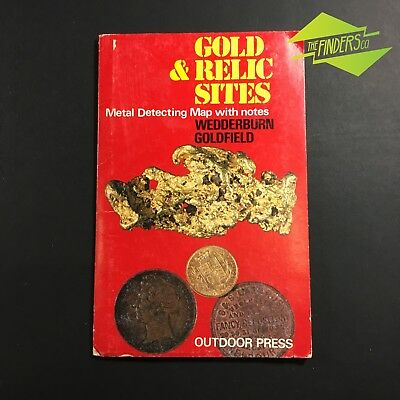 """Vintage """"wedderburn Goldfields""""gold & Relic Sites Metal Detecting Map With Notes"""