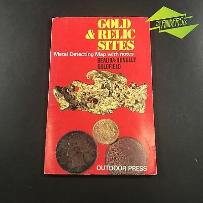 """Vintage """"Bealiba-Dunolly Goldfields""""Gold & Relic Sites Metal Detecting Map"""