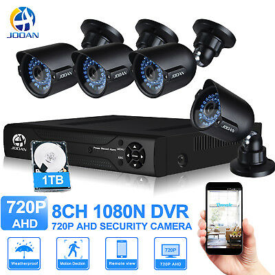 Jooan 8CH AHD 720P CCTV Security Camera System Outdoor Night Vision 1TB HDD Home